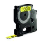 Dymo Blk/Yel 1000/5000 Tape 9mmx7m 40918
