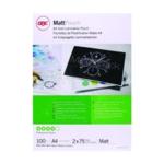 GBC A4 Laminating Pouch Matt 150mc Pk100