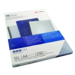 GBC HiClear A4 Bind Cvr 250mic Clr