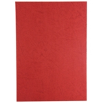 GBC LEATHERGRAIN A4 BINDING COVERS RED