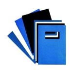 GBC LEATHERGRAIN A4 BINDING COVERS ROYAL BLUE