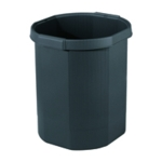 Forever Black Waste Bin 435014D