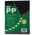 Goldline PP Display Sleeve A3 Pk10