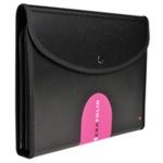 Exactive Exafolio Conf Folder 6-Part Blk