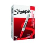 Sharpie Permanent Marker Fine Red Pk12
