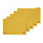 Elba Tabbed Folder 250gsm Yllw Pk100