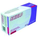 Shield Latex Gloves Blue Medium Pk100