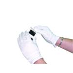 White Knitted Med Cotton Gloves Pk20