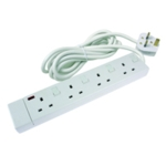 CED 4-Way Extension Lead Wht CEDTS4213IS
