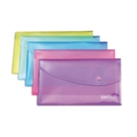 Rapesco Popper Wallet DL Assorted Pk5