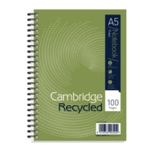 Cambridge Recycled Notebook A5 Pk5