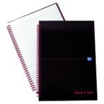 Black n Red WireBound HBk A4 Notebook
