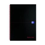 Black n Red A4 Feint H/back Notebook Pk5