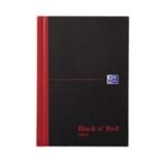 Black n Red A6 Feint Ruled Notebook