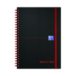 Black n Red A5 Elasticated Notebook Pk5
