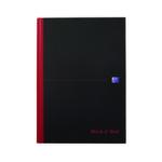 Black n Red A4 C/bound A-Z Notebook Pk5