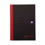 Black n Red A5 Hardback Ruled Notebook