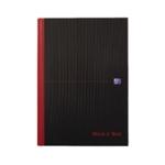 Black n Red Casebound Notebook A4 Feint