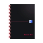 Black n Red A5 Wire Notebook 100Pg Ruled