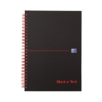 Black n Red A5 Wirebnd Hardback Notebook