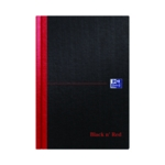 Black n Red A5 Ruled Casebound Notebook