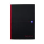 Black n Red A4 Cbound Hardback Notebook