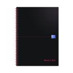 Black n Red Wiro A4 Notebook Pk10
