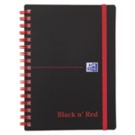 Black n Red Poly Wire A6 Ruled Notebook