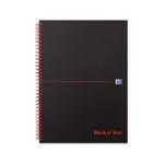 Black n Red A4 Matte Wiro Notebook Pk5