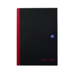 Black n Red A4 Plain Sketch Book Pk5