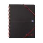 Black n Red A4 Wire Meeting Book Pk5