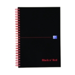 Black n Red A5 Plus Wirebnd HB Notebook