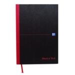 Black n Red A4 Dbl Cash Manscpt Book Pk5
