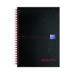 Black n Red Notebook A5 Feint Pk5