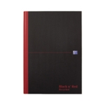 Black n Red A4 Rcycd Casebound Notebook