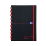 Black n Red Recycled A5 Notebook 140Pgs