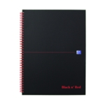Black n Red A4 Plus Matte Notebook Pk5