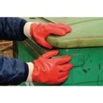 Polyco PVC Knitwrist Glove One Size Red