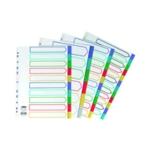 Concord 10-Part Multicolour Index A4