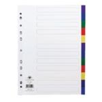 Concord 12-Part Multicolour Index A4