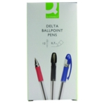 Q-Connect Delta Ball Pen Blue Pk12