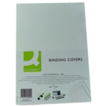 Q-Connect White A4 Binding Covers Pk100