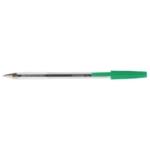 Q-Connect Ballpoint Pen Med Green Pk50