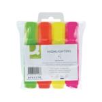 Q-Connect Highlighter Pen Asstd Pack-4