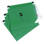 Q-Connect 15mm Lateral File Grn Pk25