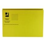 Q-Connect Sq Cut Folder 250g Yellow P100