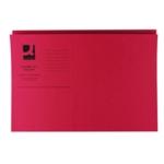 Q-Connect Sq Cut Folder 250gsm Red Pk100