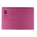 Q-Connect Sq Cut Folder 250gsm Pink P100