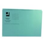 Q-Connect Sq Cut Folder 250gm Blue Pk100