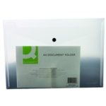 Q-Connect Document Folder A4 Clear Pk12